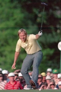Jack Nicklaus birdies No. 17 in the final round in 1986
